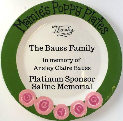 Saline Memorial Hospital Poppy Plate
