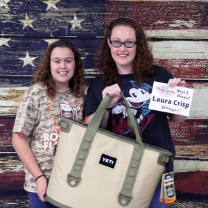Laura Crips won a Yeti Hopper Cooler