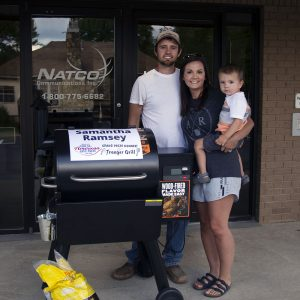 Samantha Ramsey won the Grand Prize Traeger Pro Series Grill