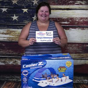 Tanya Simmons won a CoolerZ Inflatable Floating Island